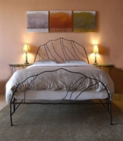 Handmade Iron Bed Frame - Wild Grass Full/Double