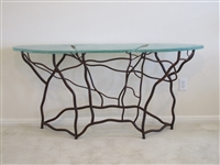 New Large Organic Half Moon Accent Table