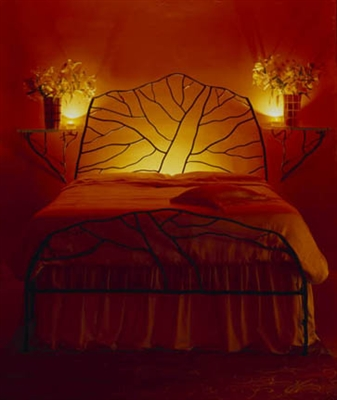 Handmade Iron Bed Frame - Tree of Love Full/Double