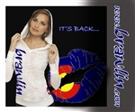 Colorado Kiss Burnout Hoodie by Brawlin
