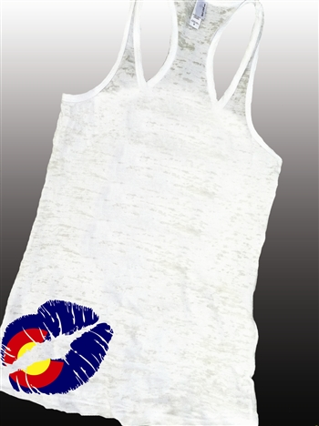 Colorado Kiss Burnout Tank by Brawlin