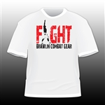 FIGHT Two-Tone Tee BCG Tee by Brawlin