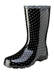 Slogger Women's Rain Boot Black Dots