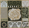 1040 Umber Floral Collage