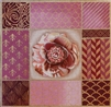 1068b Mauve Rose & Gold Collage
