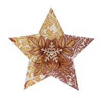 110c Golden Snowflake Star