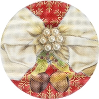 CO-20b Wreath Christmas Ball w/ Jewel