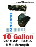 10 Gallon Garbage Bags Can Liners 10 GAL Trash Bags Black