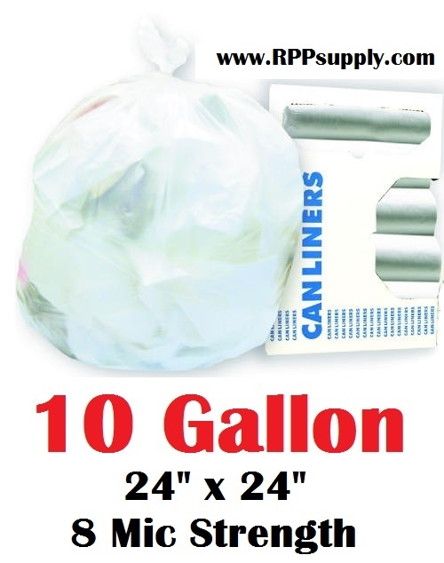 10 Gallon Trash Bags Garbage Can Liners