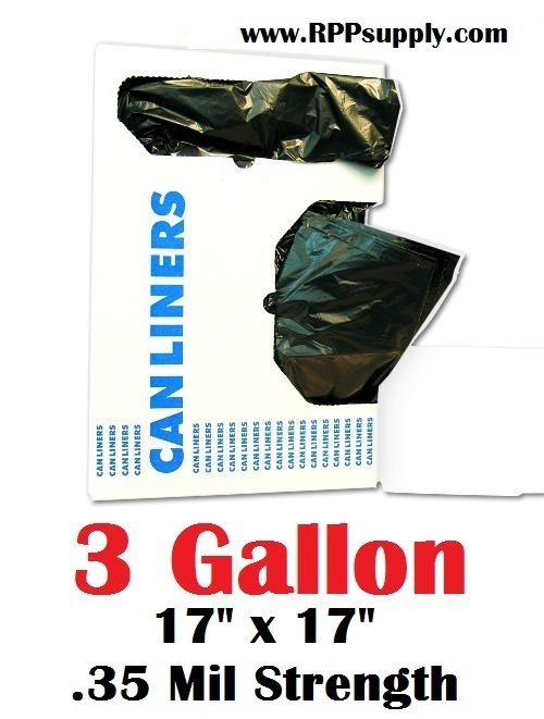 3 Gallon Garbage Bags Can Liners Gal Trash