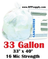 33 Gallon Garbage Bags Can Liners 33 GAL Trash Bags