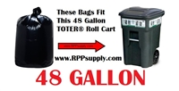 48 Gallon Trash Bags Super Big Mouth Trash Bags Large Industrial 48 GAL Garbage Bags