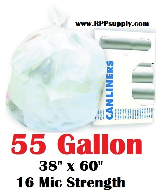 55 Gallon Garbage Bags Can Liners GAL Trash