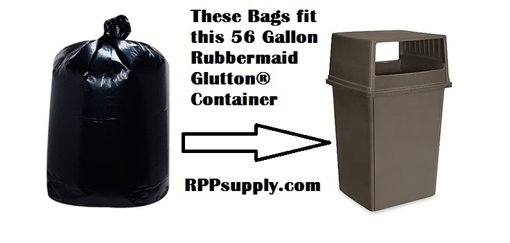56 gallon trash bags 56 gal garbage bags can liners 22 x 22 x 47 - Rubbermaid Garbage Cans