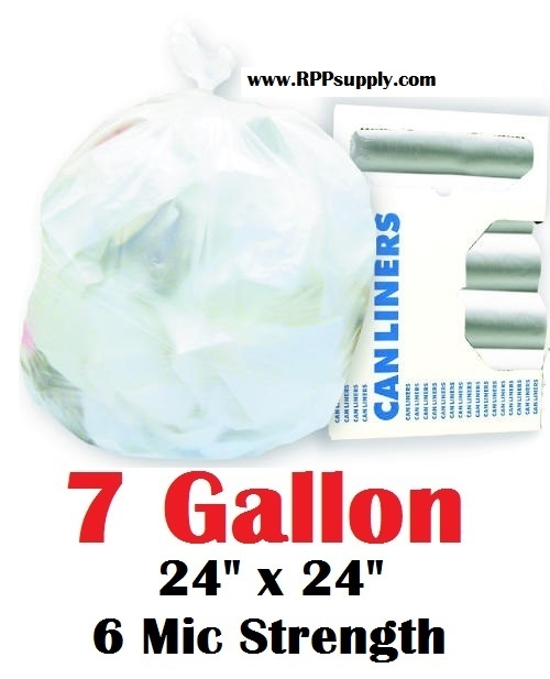 7 Gallon Garbage Bags Can Liners Gal Trash