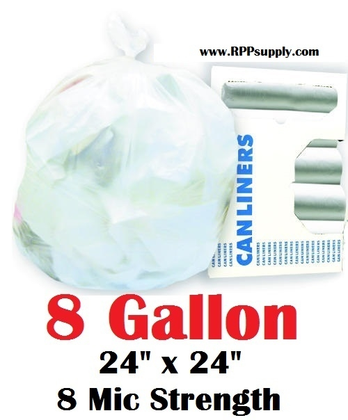 8 Gallon Garbage Bags Can Liners Gal Trash