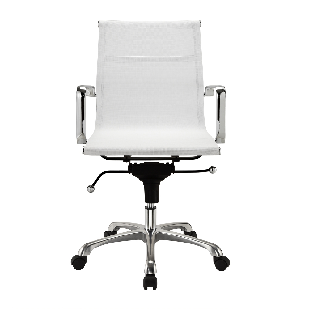 Enjoyable Modern Mesh Mid Back Office Chair In White Caraccident5 Cool Chair Designs And Ideas Caraccident5Info