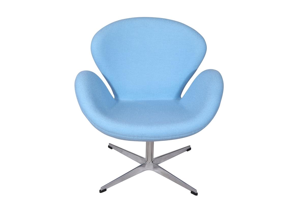 arne jacobsen swan chair in baby blue