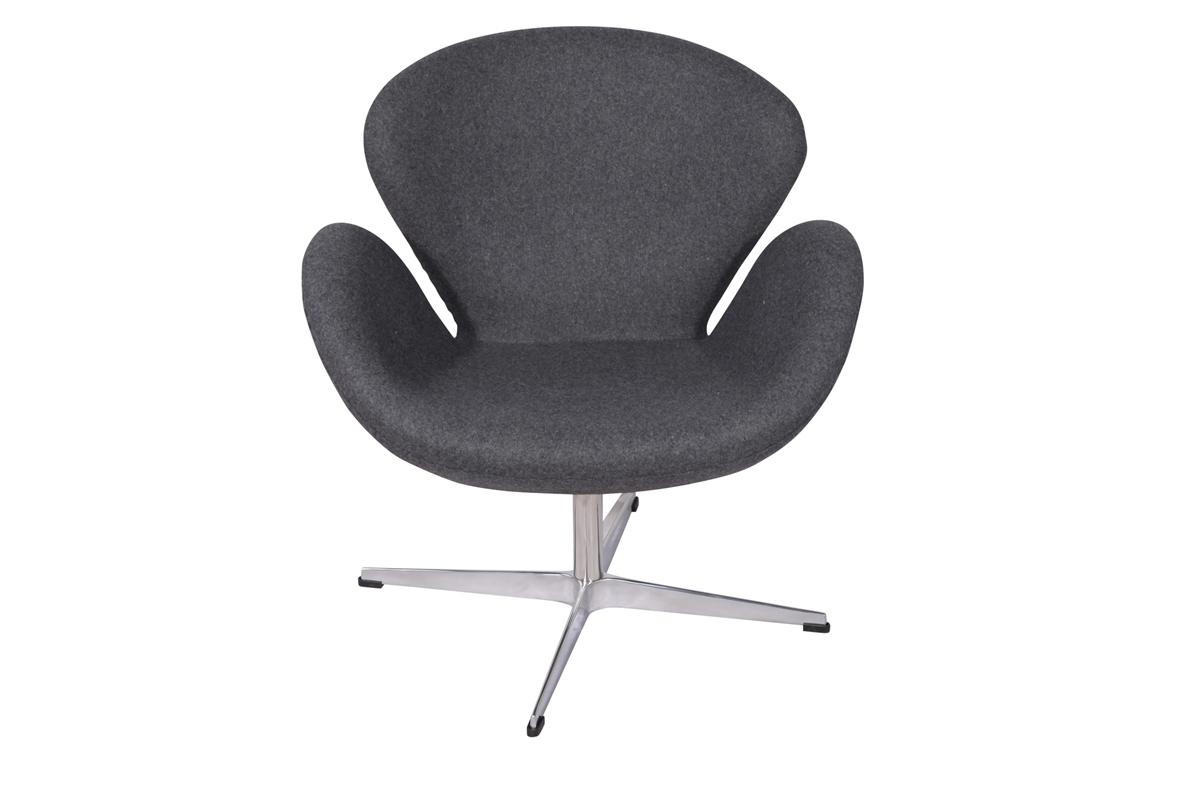 arne jacobsen swan chair in light gray