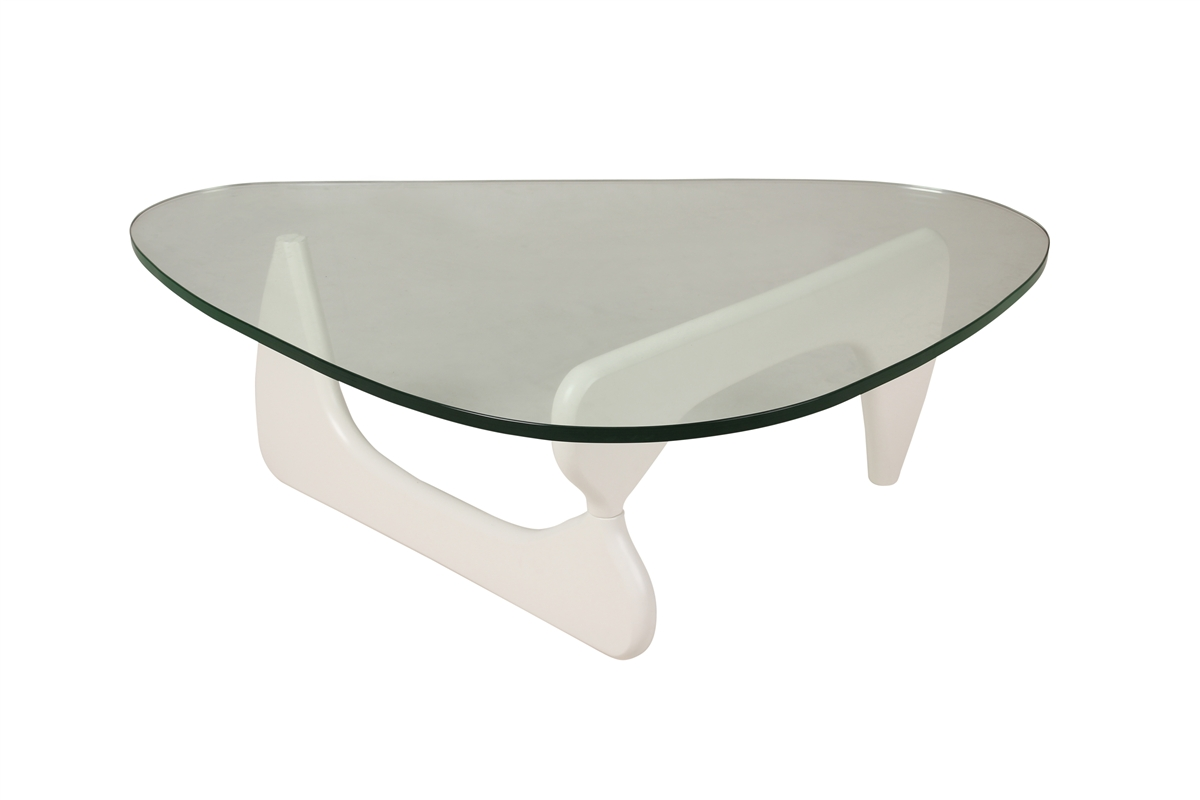 Isamu Noguchi Coffee Table with White Base