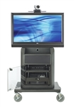 "Avteq Cart Supports One           Vendor        863                           Display Up To 52"",Steel"