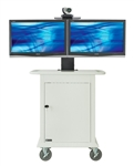 Telemedicine Cart (Supports Dual Displays Up To 32 Inch Steel)