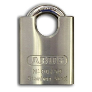 "9050 Stainless-Steel Padlock ""Closed Shackle"""