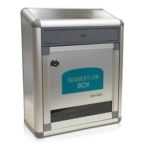 B-036 Aluminum Suggestion & Letter Box w/ Flap Drop Door