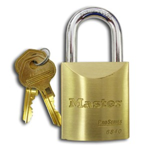 "M6840 Pro Series 1-3/4"" Wide Solid Brass Body Padlock"