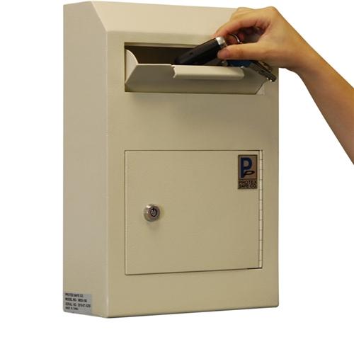 Drop box safe lock