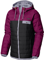 Columbia Women's Mountainside Full Zip Jacket BLACK/DARKRASP