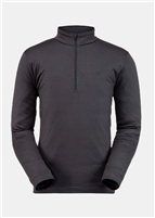 Spyder Men's Prospect Zip T-Neck Baselayer - Ebony