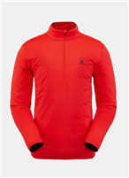Spyder Men's Prospect Zip T-Neck Baselayer - Volcano