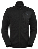 Spyder Men's Bandit Full Zip Fleece Jacket - Black
