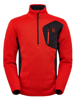 Spyder Men's Bandit Half Zip Fleece Jacket - Volcano