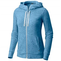 Mountain Hardwear Womens Burned Out Full Zip Hoodie - Storm Cloud Blue