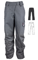 M3 Jen Womens Snowboard Ski Pants - Grey