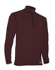 Men's Polarmax Micro H2 Zip Mock Shirt - Brick