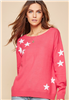 Women's Coral Star Sweater
