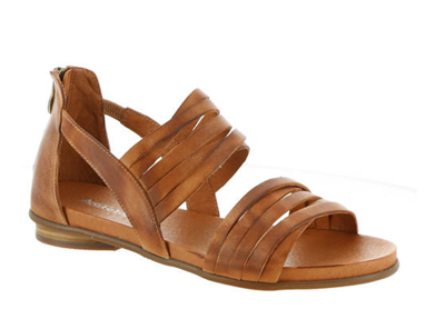 Ladies Flat Leather Tan Remi Sandal from Antelope Shoes