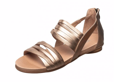 Ladies Flat Leather Bronze Remmi Sandal from Antelope Shoes