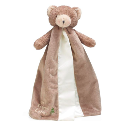 baby stuffed bear with attached blanket