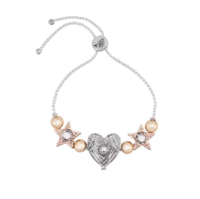 Bibi Bijoux Charm Friendship Bracelet Mixed Metals