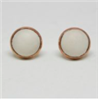 Ivory Cabochon Stud Earrings from Binky & Lulu