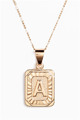 women's gold 16 inch letter A necklace