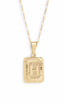 Women's gold 16 inch letter H necklace