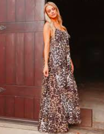 e062ac1d00ab Buddy love Panama Maxi Dress in Leopard - Seersucker Sassy Boutique
