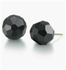 women's Black Faceted Bead stud earrings