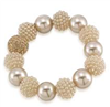 women's Gold Pearl stretch bracelet