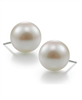 14mm white faux pearl stud Earrings